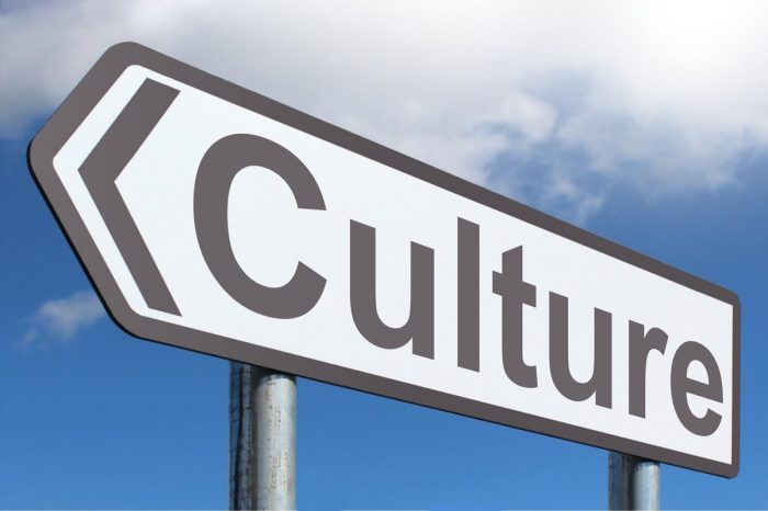 sign with the word culture on it